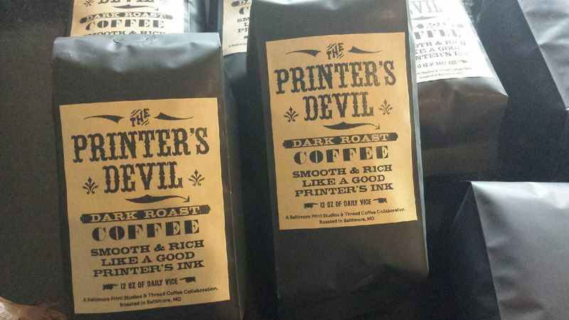 The Printer's Devil; a collaboration with Baltimore Print Studios