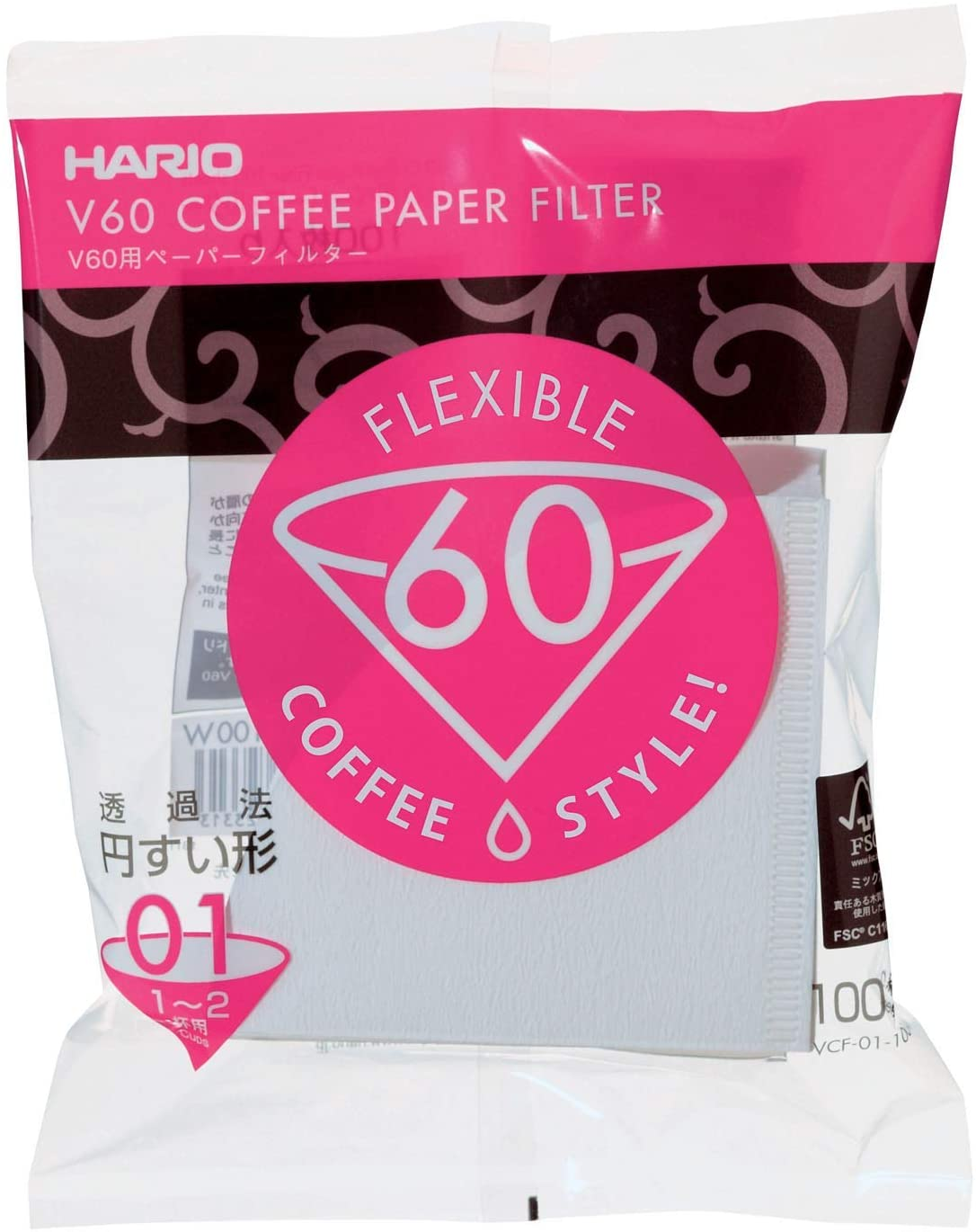 Hario White 01 Paper Filters